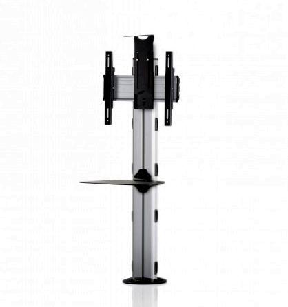 1 Display 1×1, Höhe 110 cm, Standard-VESA, Ablage, Kamera-Halterung, zur Bodenbefestigung