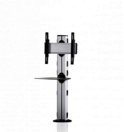 1 Display 1×1, Höhe 110 cm, Standard-VESA, Ablage, zur Bodenbefestigung