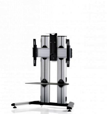 1 Display 1x1, für große Bildschirme, Höhe 110 cm, Standard-VESA, Ablage, Kamera-Halterung, auf Standfuß