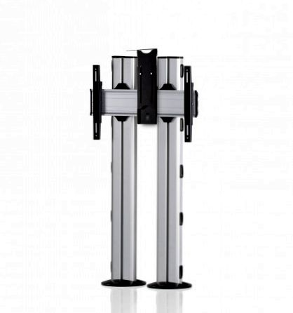 1 Display 1×1, für große Bildschirme, Höhe 135 cm, Standard-VESA, Kamera-Halterung, zur Bodenbefestigung