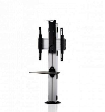 1 Display 1×1, Höhe 135 cm, Standard-VESA, Ablage, Kamera-Halterung, zur Bodenbefestigung