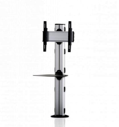 1 Display 1×1, Höhe 135 cm, Standard-VESA, Ablage, zur Bodenbefestigung