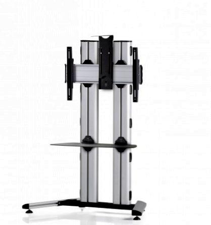 1 Display 1×1, für große Bildschirme, Höhe 135 cm, Standard-VESA, Ablage, Kamera-Halterung, auf Standfuß
