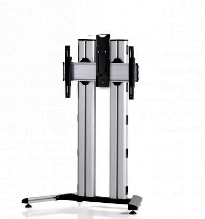 1 Display 1×1, für große Bildschirme, Höhe 135 cm, Standard-VESA, Kamera-Halterung, auf Standfuß