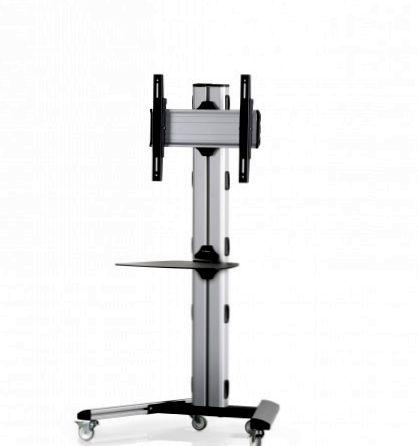 1 Display 1×1, Höhe 135 cm, Standard-VESA, Ablage, auf Standfüßen mit Laufrollen