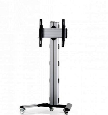 1 Display 1×1, Höhe 135 cm, Standard-VESA, auf Standfüßen mit Laufrollen