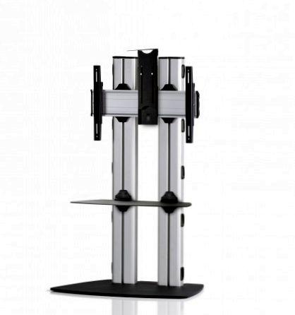 1 Display 1×1, für große Bildschirme, Höhe 135 cm, Standard-VESA, Ablage, Kamera-Halterung, mit Standfuß