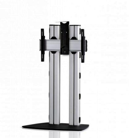 1 Display 1×1, für große Bildschirme, Höhe 135 cm, Standard-VESA, Kamera-Halterung, mit Standfuß