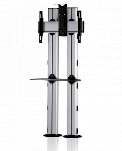 1 Display 1×1, für große Bildschirme, Höhe 180 cm, Standard-VESA, Ablage, Kamera-Halterung, zur Bodenbefestigung