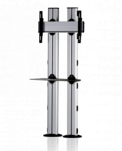 1 Display 1×1, für große Bildschirme, Höhe 180 cm, Standard-VESA, Ablage, zur Bodenbefestigung