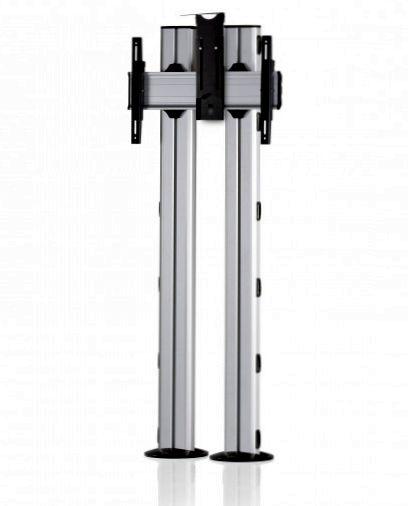 1 Display 1×1, für große Bildschirme, Höhe 180 cm, Standard-VESA, Kamera-Halterung, zur Bodenbefestigung