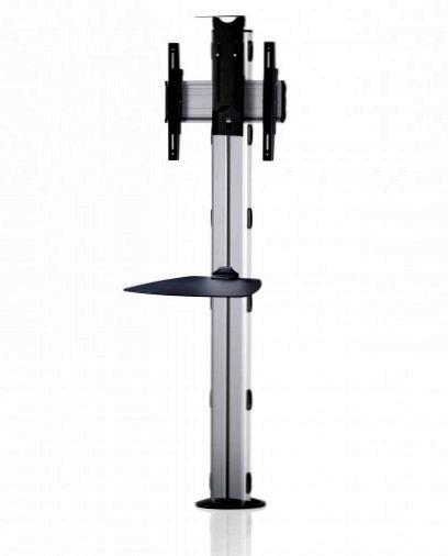 1 Display 1×1, Höhe 180 cm, Standard-VESA, Ablage, Kamera-Halterung, zur Bodenbefestigung