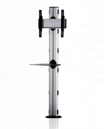 1 Display 1×1, Höhe 180 cm, Standard-VESA, Ablage, zur Bodenbefestigung