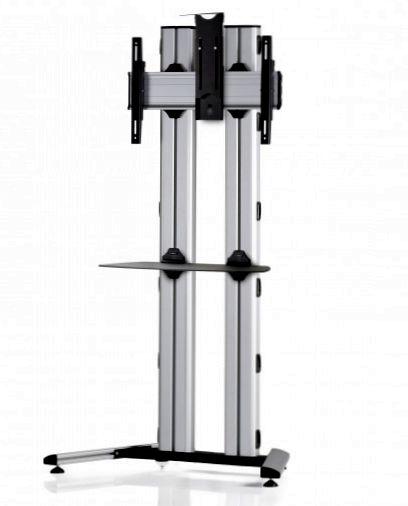 1 Display 1×1, für große Bildschirme, Höhe 180 cm, Standard-VESA, Ablage, Kamera-Halterung, auf Standfuß