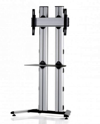 1 Display 1×1, für große Bildschirme, Höhe 180 cm, Standard-VESA, Ablage, auf Standfuß
