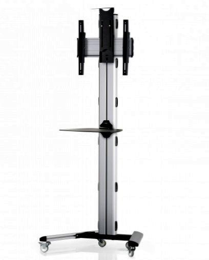 1 Display 1×1, Höhe 180 cm, Standard-VESA, Ablage, Kamera-Halterung, auf Standfüßen mit Laufrollen