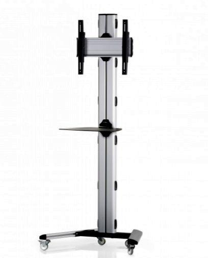 1 Display 1×1, Höhe 180 cm, Standard-VESA, Ablage, auf Standfüßen mit Laufrollen