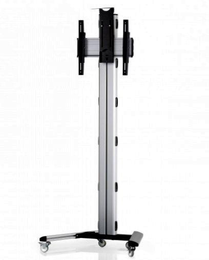 1 Display 1×1, Höhe 180 cm, Standard-VESA, Kamera-Halterung, auf Standfüßen mit Laufrollen
