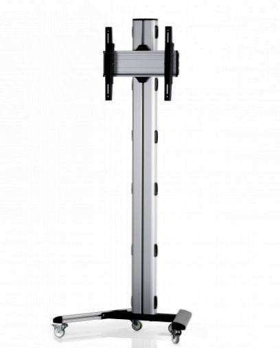 1 Display 1×1, Höhe 180 cm, Standard-VESA, auf Standfüßen mit Laufrollen