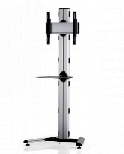 1 Display 1×1, Höhe 180 cm, Standard-VESA, Ablage, auf Standfuß