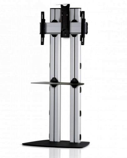 1 Display 1×1, für große Bildschirme, Höhe 180 cm, Standard-VESA, Ablage, Kamera-Halterung, mit Standfuß