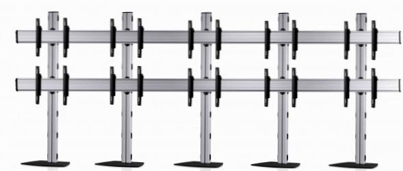 10 Displays 2×5, Standard-VESA, mit Standfuß