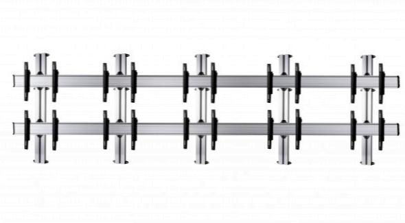 10 Displays 2×5, Standard-VESA, zur Wandbefestigung