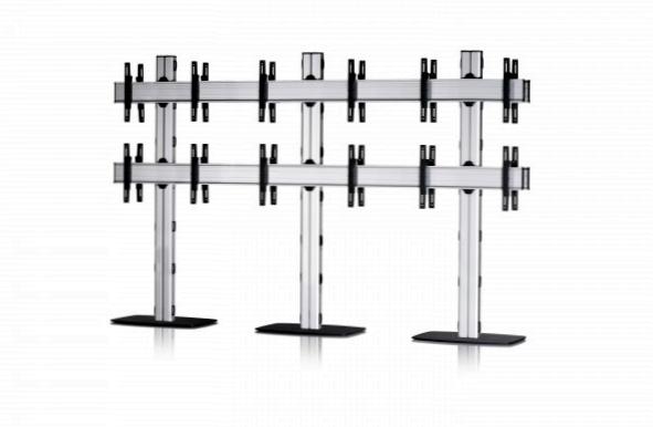 12 Displays 2×3 beidseitig, für große Bildschirme, Standard-VESA, mit Standfuß