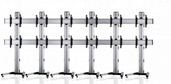 12 Displays 2×6, für große Bildschirme, Standard-VESA, auf Standfuß