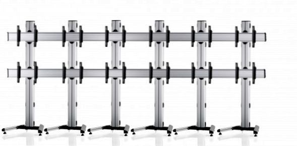 12 Displays 2×6, Standard-VESA, auf Standfuß