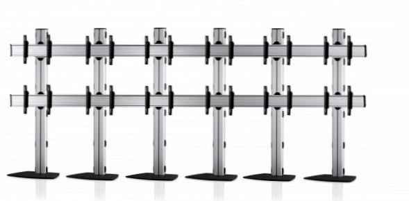12 Displays 2×6, für große Bildschirme, Standard-VESA, mit Standfuß