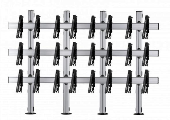12 Displays 3×4, für große Bildschirme, multifunktioneller VESA, zur Bodenbefestigung