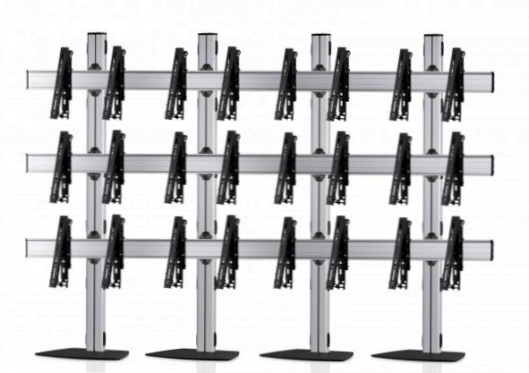 12 Displays 3×4, für große Bildschirme, multifunktioneller VESA, mit Standfuß