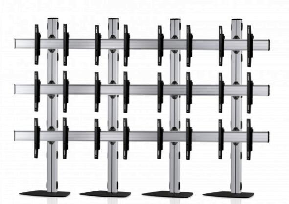 12 Displays 3×4, für große Bildschirme, Standard-VESA, mit Standfuß