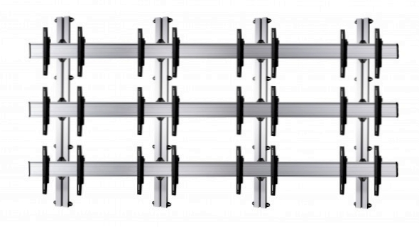 12 Displays 3×4, für große Bildschirme, Standard-VESA, zur Wandbefestigung