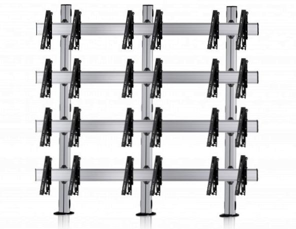 12 Displays 4×3, für große Bildschirme, multifunktioneller VESA, zur Bodenbefestigung