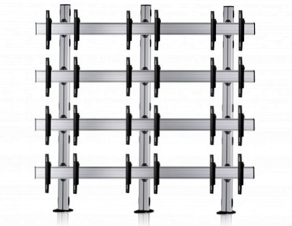 12 Displays 4×3, für große Bildschirme, Standard-VESA, zur Bodenbefestigung