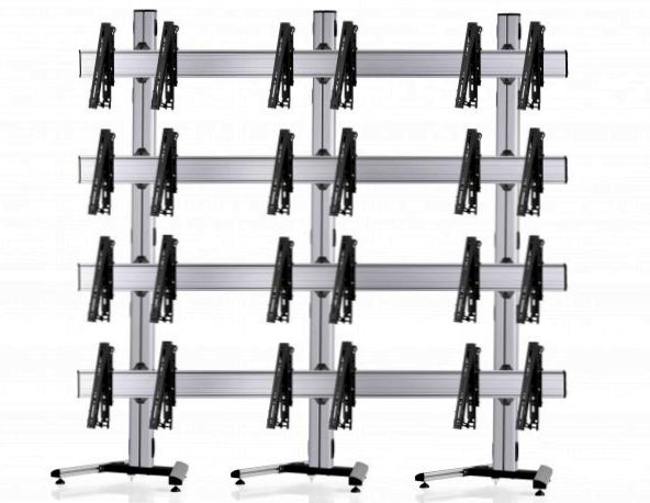 12 Displays 4×3, multifunktioneller VESA, auf Standfuß