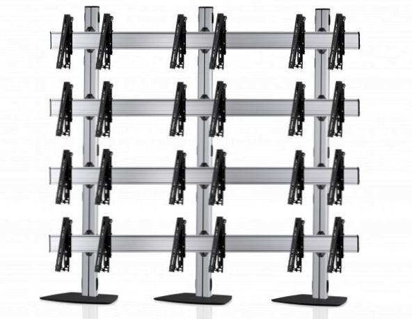 12 Displays 4×3, für große Bildschirme, multifunktioneller VESA, mit Standfuß