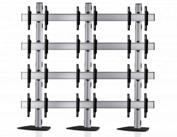12 Displays 4×3, für große Bildschirme, Standard-VESA, mit Standfuß