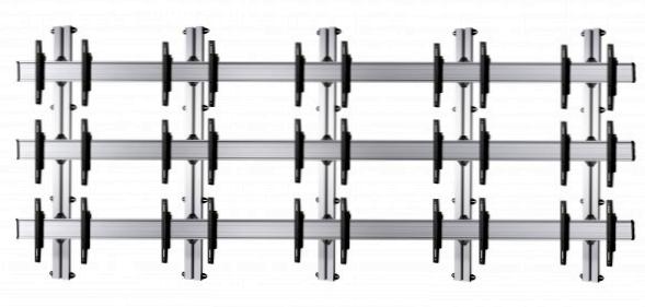 15 Displays 3×5, für große Bildschirme, Standard-VESA, zur Wandbefestigung
