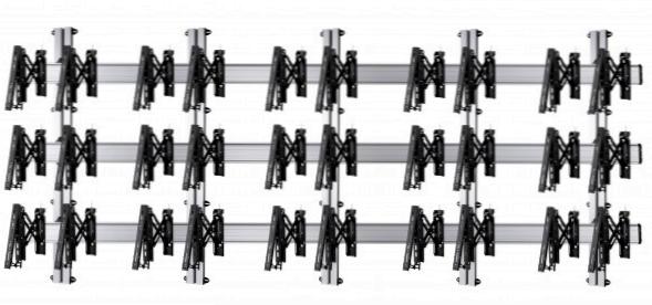 15 Displays 3×5, für große Bildschirme, Teleskop-VESA, zur Wandbefestigung