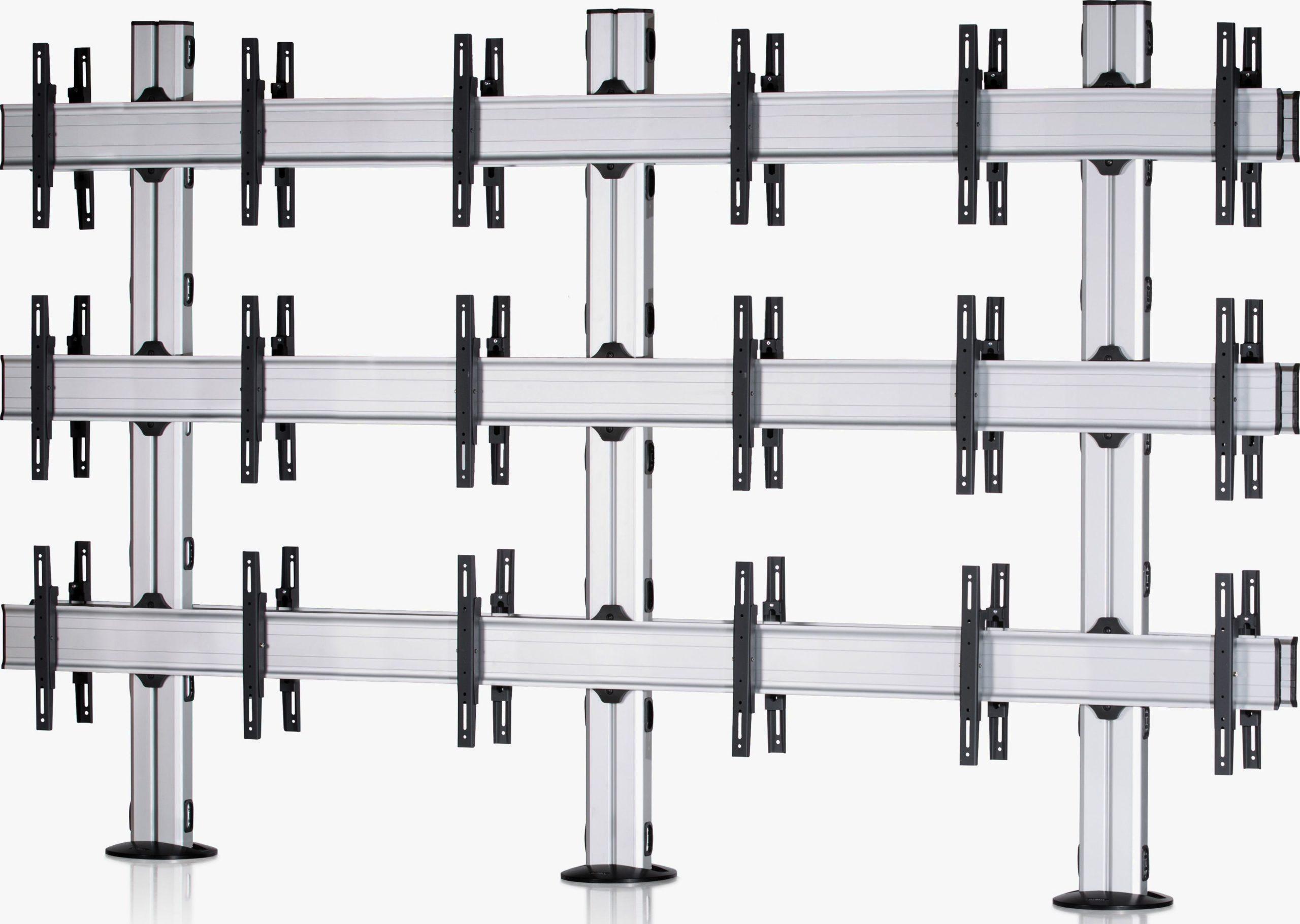 9 Displays 3x3, für große Bildschirme, Standard-VESA, zur Bodenbefestigung