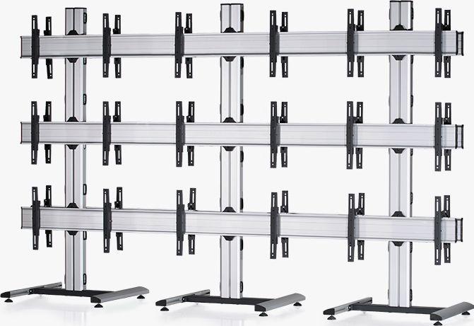 18 Displays 3×3 beidseitig, für große Bildschirme, Standard-VESA, auf Standfuß