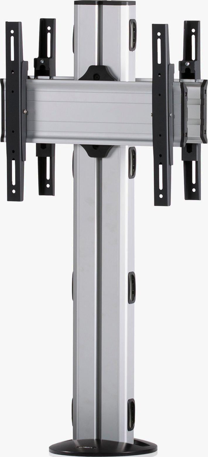 2 Displays 1×1 beidseitig, Höhe 110 cm, Standard-VESA, zur Bodenbefestigung