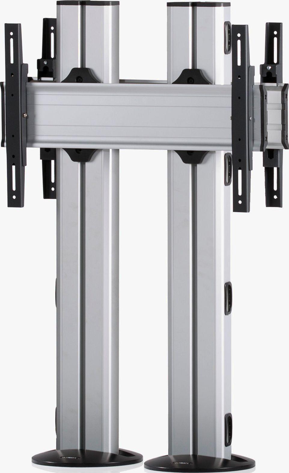 2 Displays 1×1 beidseitig, für große Bildschirme, Höhe 110 cm, Standard-VESA, zur Bodenbefestigung