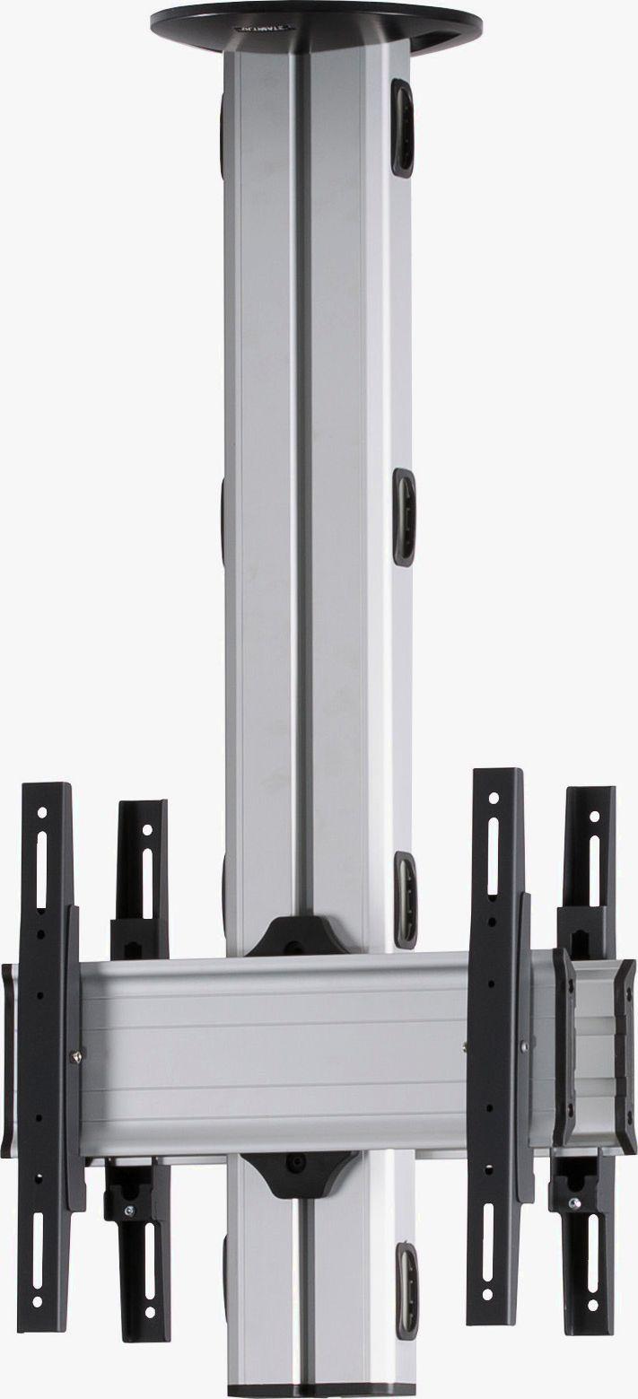 2 Displays 1×1 beidseitig, Höhe 110 cm, Standard-VESA, zur Deckenbefestigung