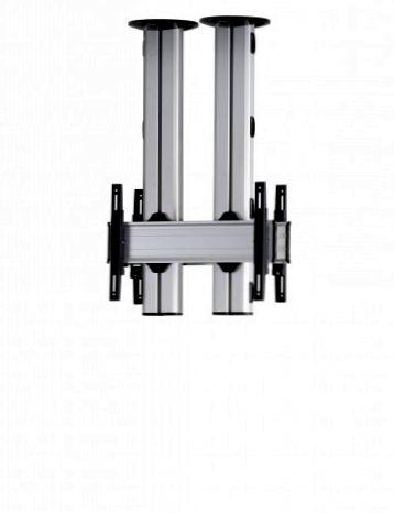 2 Displays 1×1 beidseitig, für große Bildschirme, Höhe 110 cm, Standard-VESA, zur Deckenbefestigung