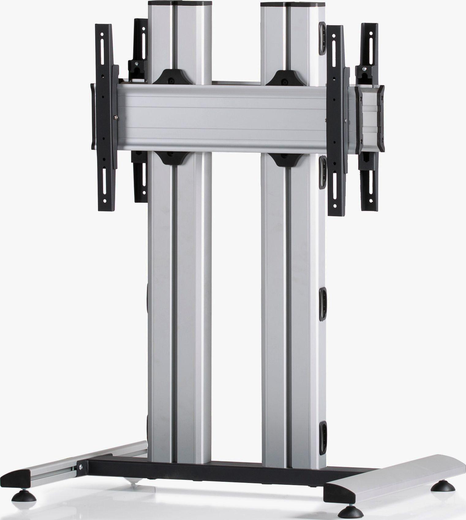 2 Displays 1×1 beidseitig, für große Bildschirme, Höhe 110 cm, Standard-VESA, auf Standfuß