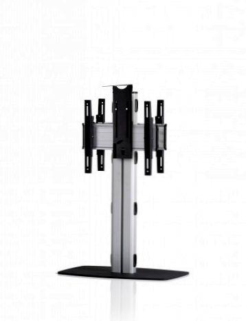2 Displays 1×1 beidseitig, Höhe 110 cm, Standard-VESA, Kamera-Halterung, mit Standfuß